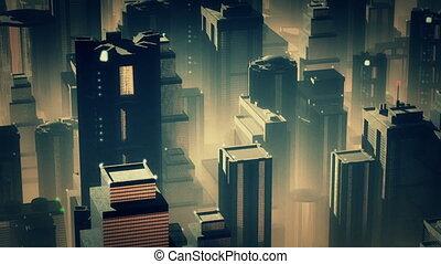 Metropolis Aerial 2 - Metropolis - aerial 3D render