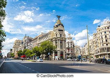 metropolis, hotel, alatt, madrid, spanyolország