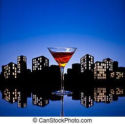 Metropolis Manhattan Cocktail - A Manhattan is a cocktail...