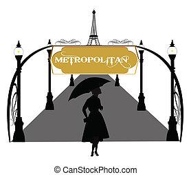 metropolitan - boulevard in paris