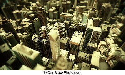 Metropolitan City. Loop animation. - Professionally created...
