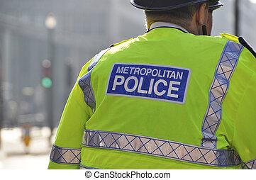 Metropolitan police in London - Metropolitan police officer...
