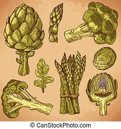 metszés, növényi, zöld