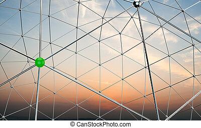 mettallic nodes - illustration of metallic nodes below a...