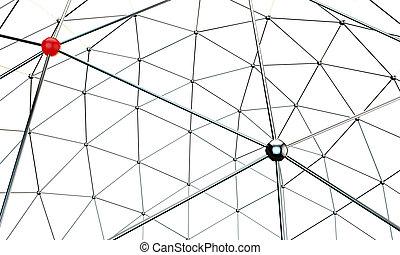 mettallic nodes - illustration of metallic nodes isolated on...