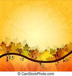 mette foglie, cadere