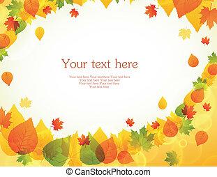 mette foglie, indietro, autunno