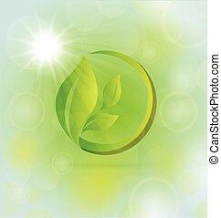 mette foglie, natura, concetto, salute