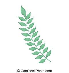 mette foglie, ramo, natura, decorazione