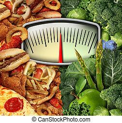 mettere dieta, scelta