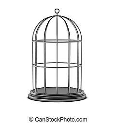 mettez cage oiseau, render, 3d
