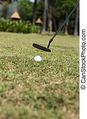 mettre, balle golf