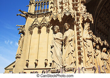Metz Cathedral front detail
