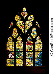 Metz cathedral - Stained glass by Marc Chagall in Metz...