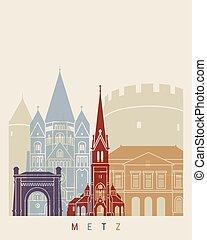 Metz skyline poster