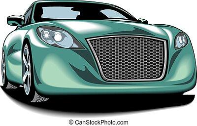meu, desenho, original, car