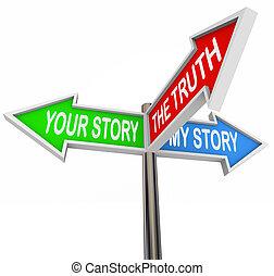 meu, histórias, seu, verdade, entre