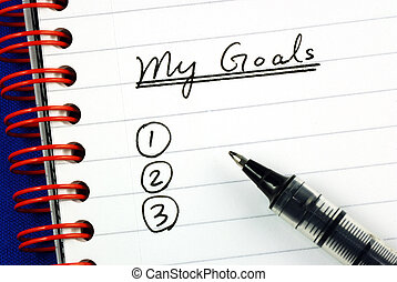 meu, lista, metas