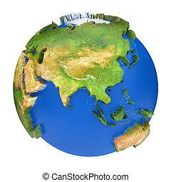 meublé, ceci, image, planet., texture, nasa, la terre