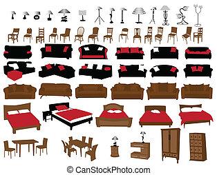 meubles, et, éclairage