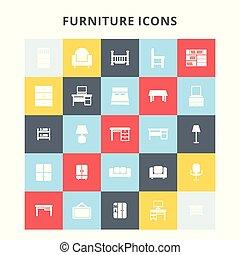 meubles, icônes