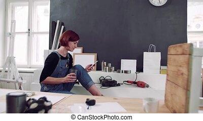 meubles, intérieur, femme, vieux, jeune, restoration., ...