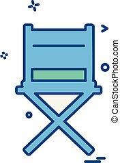meubles, vecteur, conception, icône