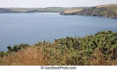 Mevagissey Bay Cornwall UK