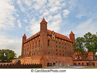Mewe castle (XIV c.) of Teutonic Order. Gniew, Poland - Mewe...