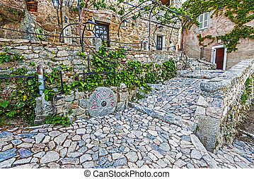 Mews of Sant Antonino village in Corsica Island - Old ...