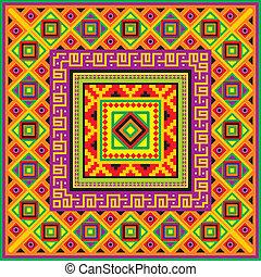 mexičan, čtverec, grafické pozadí