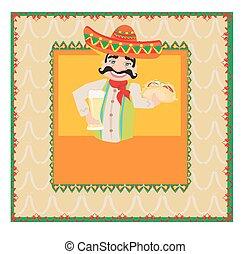 mexičan, voják