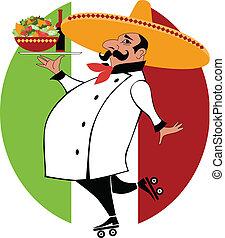 mexičan, vrchní kuchař