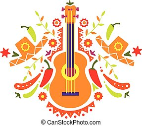 Mexia, guitar and various elements