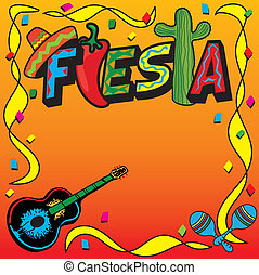 mexicaanse , fiesta, feestje, uitnodiging