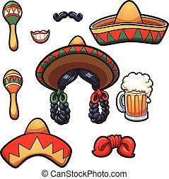 mexicain, appui verticaux