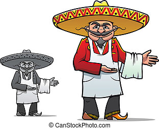 mexicain, chef cuistot