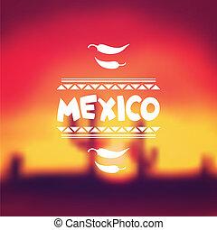 mexicain, conception, fond, ethnique, style., indigène