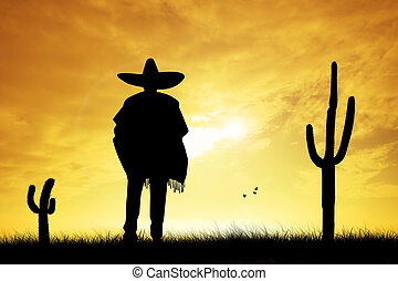 mexicain, homme