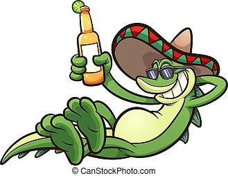 mexicain, iguane