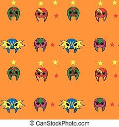 mexicain, masque, lutteur, modèle