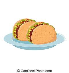 mexicain nourriture, délicieux, tacos