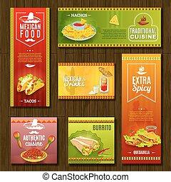 mexicain nourriture, ensemble, bannière