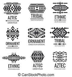 d0a0973f30118 Traditional tribal mexican symbols. navajo ethnic culture vector ...