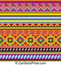 vector seamless background with a mexican ornament