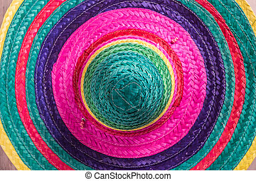 Mexican background with sombrero