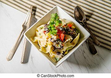 Mexican Black Bean Pasta Salad - Fresh Mexican black bean...