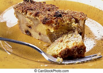 Bread pudding fresh made ready for dessert.
