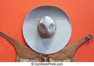 Mexican bullfighter grey hat