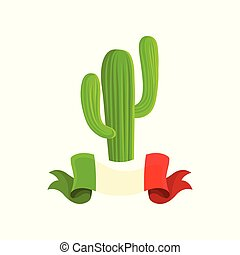 Mexican cactus vector Illustration on a white background
